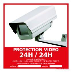 PANNEAU PROTECTION VIDEO 24H/24H (G1173)