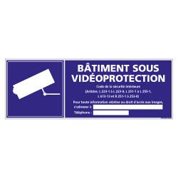 PANNEAU BATIMENT SOUS VIDEO PROTECTION (G1175)