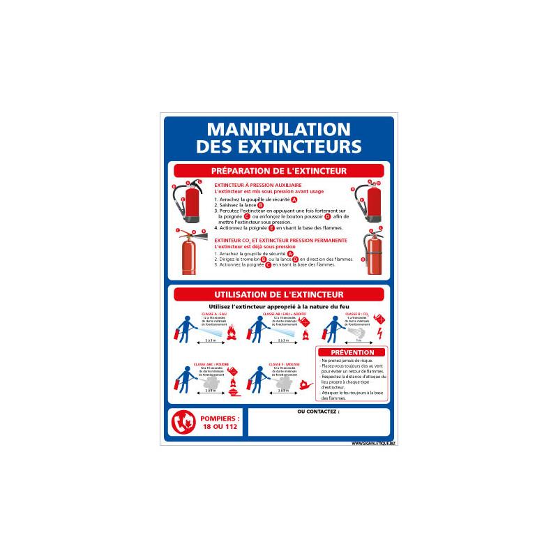 PANNEAU MANIPULATION DES EXTINCTEURS (A0647)