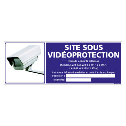 PANNEAU SITE SOUS VIDEO PROTECTION (G1183)