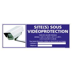 PANNEAU SITE(S) SOUS VIDEO PROTECTION (G1184)