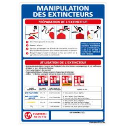 PANNEAU UTILISATION DES EXTINCTEURS (A0649)