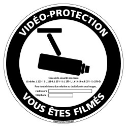 PANNEAU VIDEO-PROTECTION VOUS ETES FILMES (G1210)
