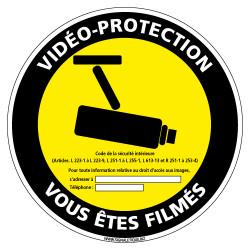 PANNEAU VIDEO-PROTECTION VOUS ETES FILMES (G1211)
