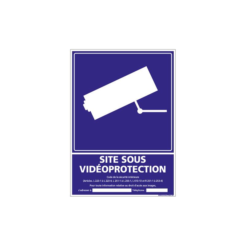 PANNEAU SITE SOUS VIDEO PROTECTION (G1217)