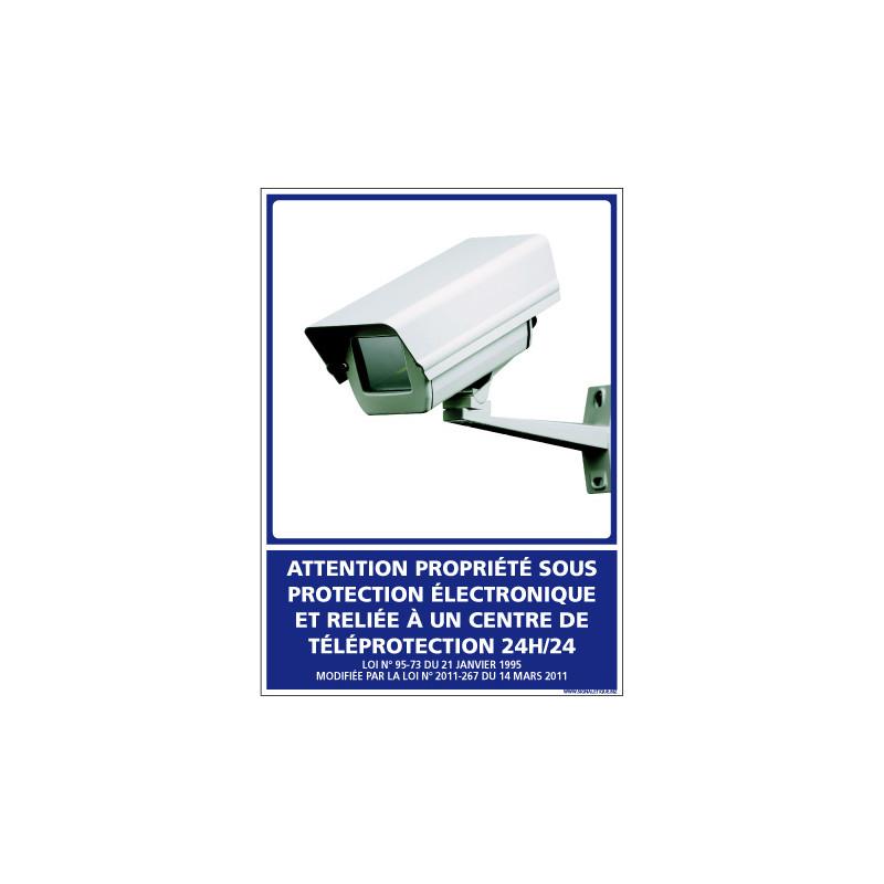 PANNEAU PROPRIETE SOUS PROTECTION ELECTRONIQUE (G1221)