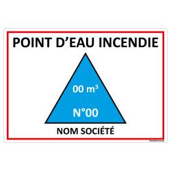 PANNEAU POINT D'EAU INCENDIE PERSONNALISABLE AVEC LE NOM DE LA SOCIETE (A0666_PERSO)