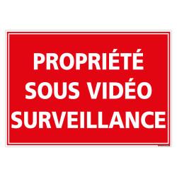 PANNEAU PROPRIETE SOUS VIDEO SURVEILLANCE (G1438)