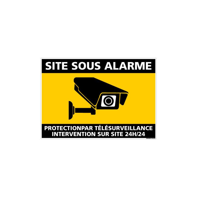 PANNEAU SITE SOUS ALARME (G1439)