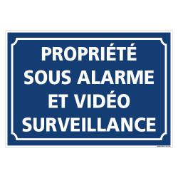 PANNEAU PROPRIETE SOUS ALARME ET VIDEOSURVEILLANCE (G1462)