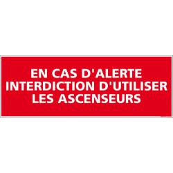 Panneau d'interdiction de prendre les ascenseurs (D0105)