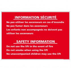 INFORMATION SECURITE ASCENSEURS (D0911)