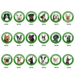 Panneau de Signalisation chien de garde ronde