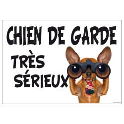 PANNEAU CHIEN DE GARDE TRES SERIEUX (H0281)