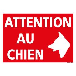 PANNEAU ATTENTION AU CHIEN (H0336)
