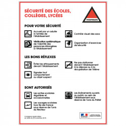 Signalisation Securite Ecoles, Colleges & Lycee (VIGIPIRATE3)