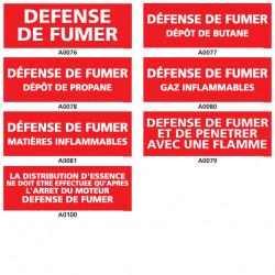 Panneau DEFENSE DE FUMER DANGER
