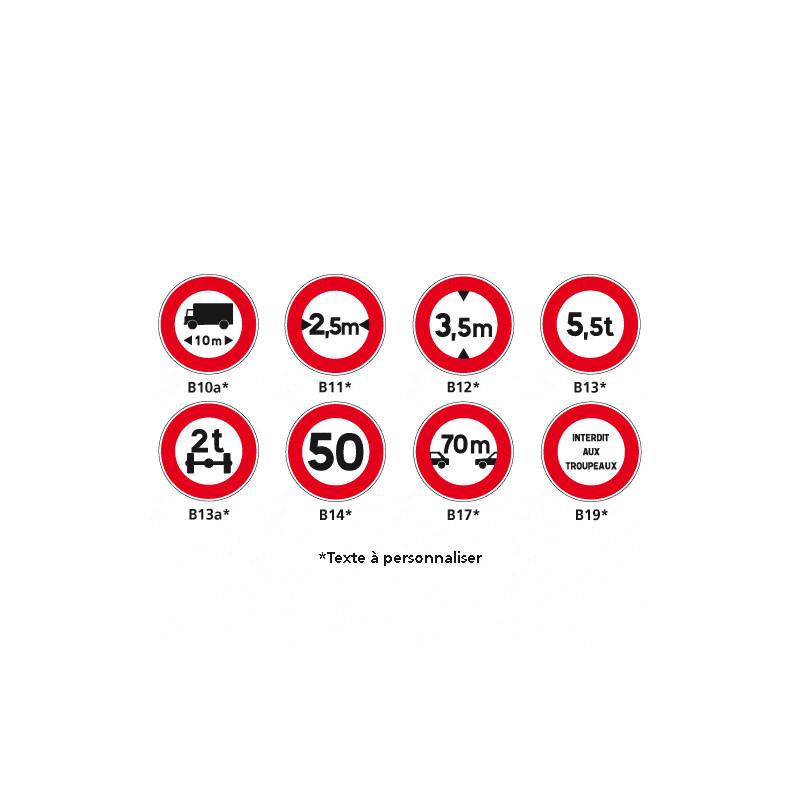 Panneaux Signaux d'interdiction - Type B