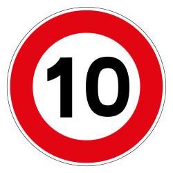 PANNEAU LIMITATION DE VITESSE 10KM/H (B14_10)