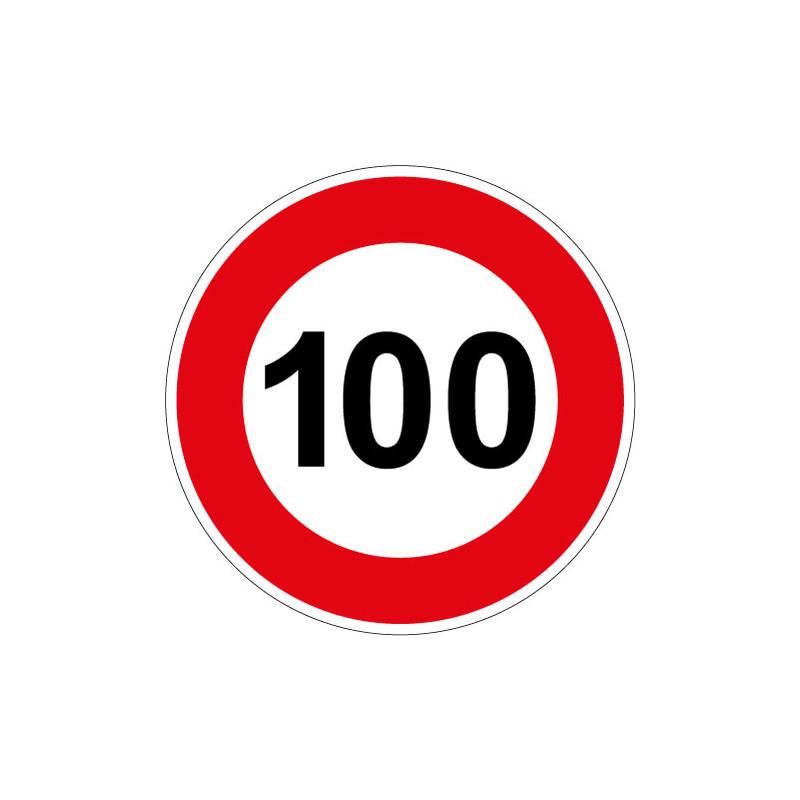 PANNEAU LIMITATION DE VITESSE 100KM/H (B14_100)