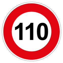 PANNEAU LIMITATION DE VITESSE 110KM/H (B14_110)