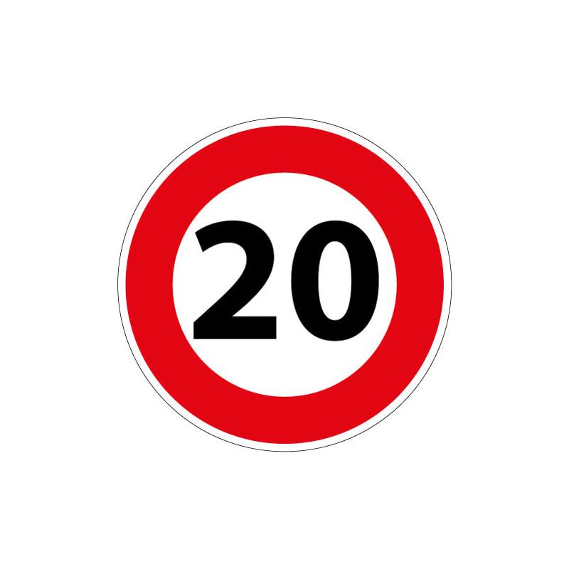 PANNEAU LIMITATION DE VITESSE 20KM/H (B14_20)