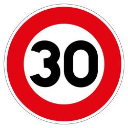 PANNEAU LIMITATION DE VITESSE 30KM/H (B14_30)