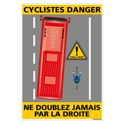 PANNEAU DANGER CYCLISTES (C1463)