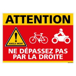 PANNEAU ATTENTION NE PAS DEPASSER PAR LA DROITE (C1466)