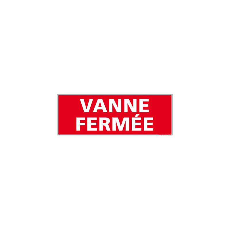 Panneau Vanne Fermee (K0358)