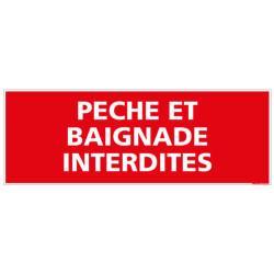 PANNEAU PECHE ET BAIGNADE INTERDITES (D0134)