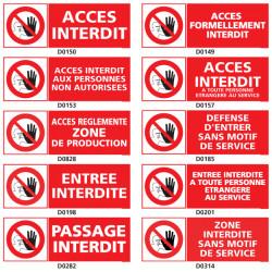 Panneau ACCES INTERDIT