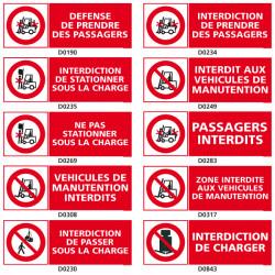 Panneau d'INTERDICTION (chariot elevateur)
