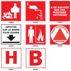 Panneau incendie, couverture anti-feu