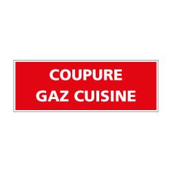 PANNEAU DE PREVENTION COUPURE GAZ CUISINE (REF K0360)