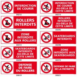 Panneaux d'INTERDICTION pour la rue