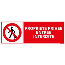 Panneau PROPRIETE PRIVEE ENTREE INTERDITE (D0293)