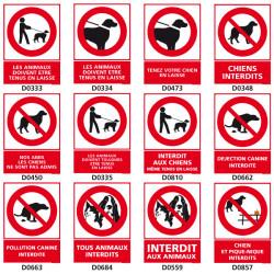 Panneaux INTERDIT AUX ANIMAUX