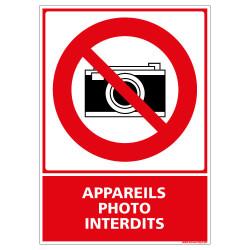 PANNEAU APPAREILS PHOTO INTERDITS (D0337)