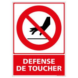 PANNEAU DEFENSE DE TOUCHER (D0361)