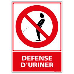 Panneau defense d'uriner (D0365)