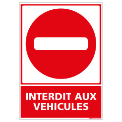 PANNEAU INTERDIT AUX VEHICULES (D0420)