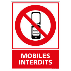PANNEAU MOBILES INTERDITS (D0425)