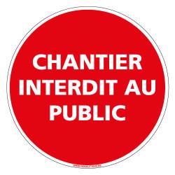 PANNEAU CHANTIER INTERDIT AU PUBLIC (D0520)