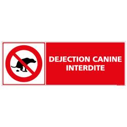 SIGNALETIQUE DEJECTION CANINE INTERDITE (D0605)