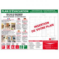 PANNEAU PLAN D'EVACUATION HOTEL - IMMEUBLE (A0368)