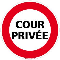 Panneau COUR PRIVEE (D0959)