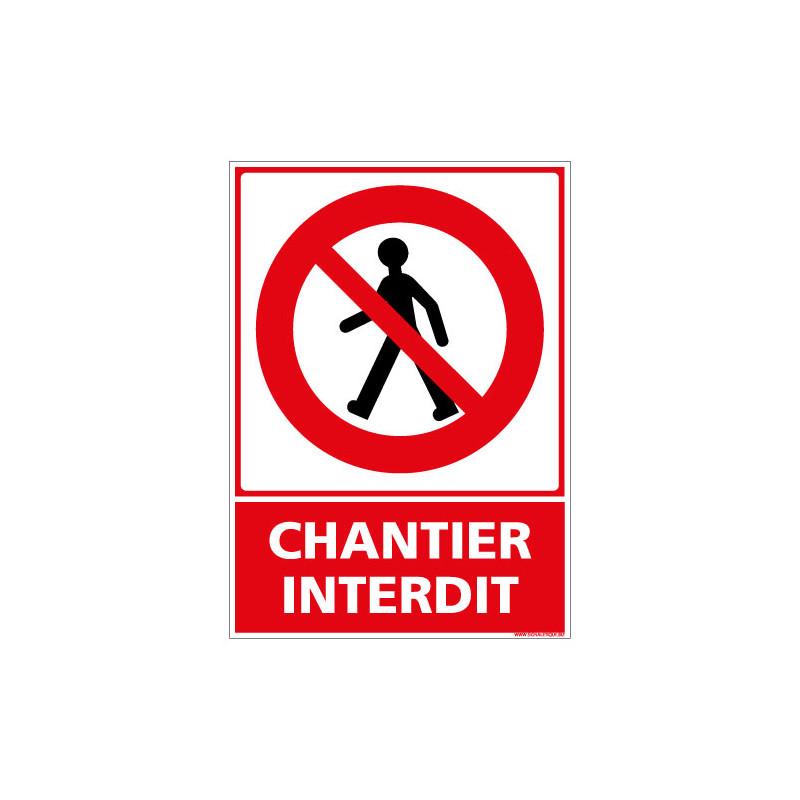 PANNEAU CHANTIER INTERDIT AU PUBLIC (D0960)