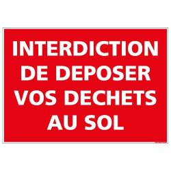 Panneau Interdiction de deposer vos dechets au sol (D0993)