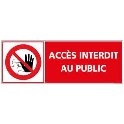 Panneau Acces Interdit au Public (D0999)
